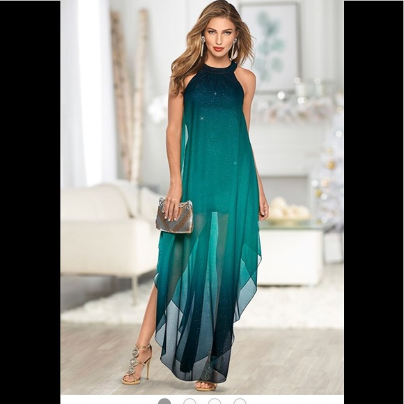 af7004504a Ombré Glitter Long Dress. M 5b2bf5068ad2f9c49ad4c715